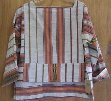 NWT African Print 100% Cotton Shirt/Top S By Santa Fe Weaving Gallery