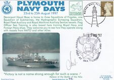 4RNCHSP72 Pokladu ORP Wodnik Polish  Navy Ship Plymouth Navy Days Signed Command