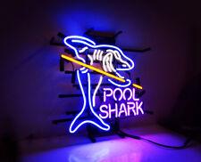"Pool Shark Game Room Snooker Man Cave Bistro Beer Bar Pub Neon Sign 17""x15"""