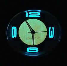 "NWOTs ""SPEEDO"" orange silicon rubber, s-steel analog watch w/ blue backlight"