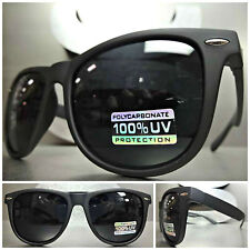 CLASSIC VINTAGE 80's RETRO Style SUN GLASSES Matte Black Frame Super Dark Lens
