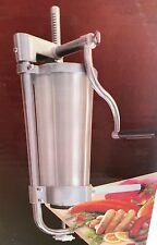 Edelstahl Wurstfüllmaschine Wurstspritze Wurstpresse Wurstfüller 3,5 L 4Aufsätze