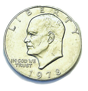 1978 Liberty Eisenhower Dollar Coin US In God We Trust Eagle Moon Philadelphia