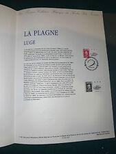 Collection Historique Timbre Poste 1er Jour : 2/03/91 -LA PLAGNE