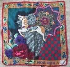 Foulard châle en soie NOA NOA by OTTO KERN 100cm x 100cm vintage scarf