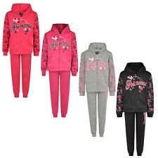 KIDS GIRLS TRACKSUIT JOG SET PRINCESS DAISY FULL ZIP HOODED TOP & JOGGERS BNWT