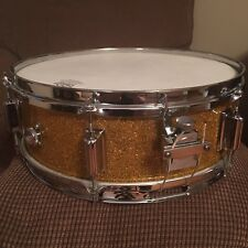 Vintage 1960s ??? Rogers ??? Luxor ???  5x14 Gold Sparkle Snare Drum