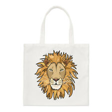 Lion Face Regular Tote Bag Funny Animal Shopper Shoulder