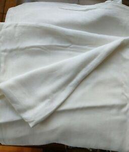 John Lewis White Linen King Duvet Cover
