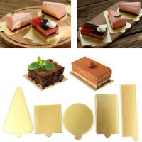 50/100pcs Mousse Tray Cake Boards Pudding Cardboard Base Pad Baking Mould Mold