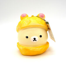 New 9CM Squishy Hat Rilakkuma Cartoon Scented Kid Toy Doll Slow Rising Bread