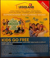KIDS CHILD GO FREE w/ Paid Adult LEGOLAND California Florida DISCOVERY CENTER