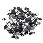 21st Birthday Party Supplies Confetti Black Silver Table Scatters Decorations GT