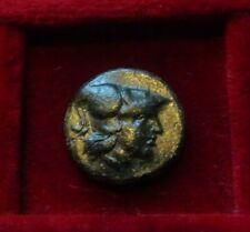 SITE of TROY, ILION TROAS Æ18. 2nd c BC. Athena Ilias w/ spear & Distaff VF+
