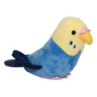 Parakeet Plush Doll Cute Birds Collection Stuffed Animal Toy Blue Yellow Budgie