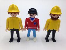 Playmobil Figures Set of 3 Boat Captain Fisherman Fishermen