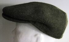 MacQueen London Wool Cabbie Hat Green Wool 7.1/8