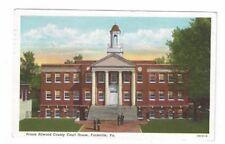 VA Farmville New Jersey 1956 linen post card Prince Edward County Court House