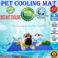 Pet Cooling Gel Mat Non-Toxic Summer Cool Pad Dog Cat Bed Cushion 4 Size AU