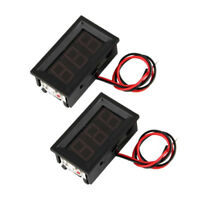 2 Mini Digital Voltmeter LED Spannungsanzeige Panelmeter 3.0-30V G4J6