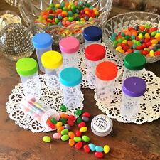 10 Pill Bottle Jars Easy open Rainbow Meds Herbs 1.5 oz Usa Herbal 3814 DecoJars