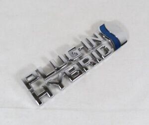 TOYOTA PRIUS PLUG-IN HYBRID EMBLEM RH 12-15 FENDER OEM CHROME BADGE plugin logo