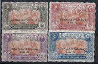Somalia 1923 Sass. 45-48 Nuovo ** 40% 20 cent, 30 c, 50 c, 1 L.