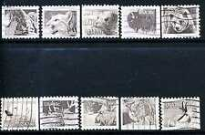US  #1880-1889 - 18¢ WILDLIFE Complete Used SET of 10 Stamps -  Issued in 1981