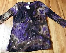 Janeric, Womens Size Medium, Purple Sequin Top,