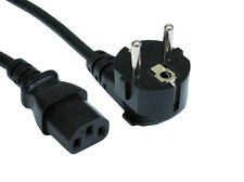 5m Euro Schuko Plug Power Cord to IEC C13 Plug Lead Cable Kettle Europe PC C 13