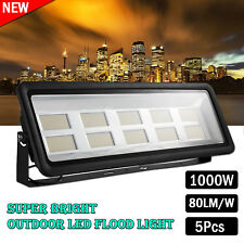 1000w LED Flood Light Warm White SMD Floodlight Outdoor Garden Yard Lamp Ac240v