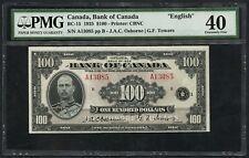CANADA BC-15 1935 $100 OSBORNE / TOWERS PMG 40 XF CV $6,500 WLM4807