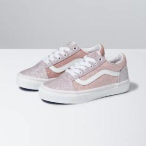 Vans Kids Size 13 2-tone Glitter Old Skool Shoes