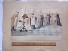 Original Watercolour Drawings Eclectic Antique