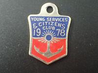 Vintage Young Services & Citizens Club 1980- Pendant / Badge