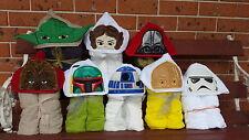 Hooded Towels STARWARS Kids Beach Bath Cartoon PERSONALISED