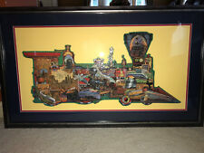 "Classic Trains Locomotive Puzzle Proffesionally Framed, 50"" X 30"" Spectacular!!"