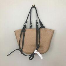 Neues AngebotBnwt Zara natur beige geflochten Stroh Korb Tasche
