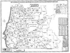 Eugene Medford Klamath Falls SW Oregon Laminated Zip Code Wall Map