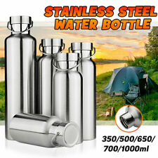 Stainless Steel Water Bottle Outdoor Camping Hiking Vacuum Insulated Flasks UK