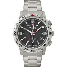 Timex T2P289, Men's Compass Watch, Indiglo, Intelligent Quartz, Bracelet Band