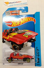 Loopster #75  RED w/ Rider HANDS UP * Variation * 2015 Hot Wheels * j17