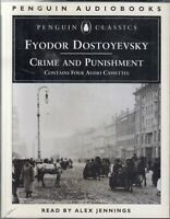 Crime and Punishment Fyodor Dostoevsky 4 Cassette Audio Book Alex Jennings