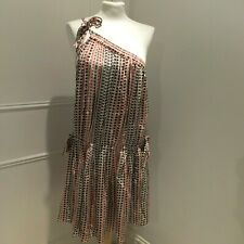 ISABEL MARANT ETOILE  Star/Bird Print One Shoulder Tie Dress Size 38/UK10