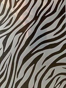 Zebra Print Stencil Animal Pattern A5 Arts Crafts Painting Decorating Reusable