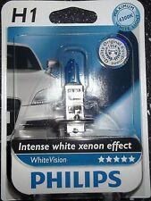 PHILIPS H1 WHITEVISION INTENSE WHITE XENON EFFECT SINGLE UPGRADE BULB 4300K