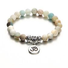 Neu Rune Strang Naturstein Armreif Manschette Yoga Perlen Anhänger Armbänder gtr