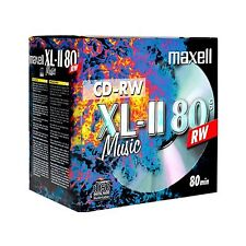 10 x Maxell Audio Music Rewritable CD-RW XLII 700MB 52x 80Min In Jewel Case