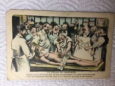 Old Postcard - Artist Xavier Sager, Medical Autopsy, Gruesome, Risqué Comic
