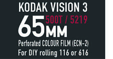 Kodak Vision3   65mm 500T / 5219 motion picture film for 166 / 616 DIY rolling